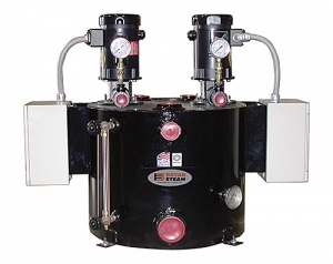 Compact boiler feed systems.