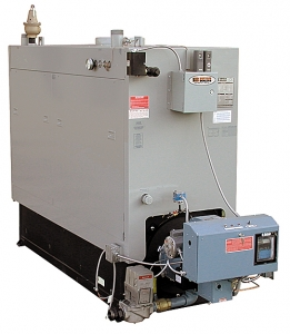 CLM series forced draft gas, high efficiency hot water boilers